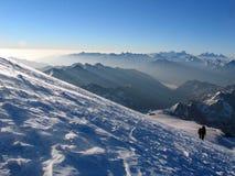 Альпинисты в Кавказе Стоковое фото RF