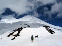 Альпинисты в Кавказе Стоковое Фото