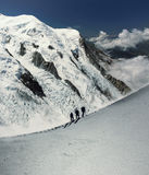 Альпинисты в alps Стоковые Изображения