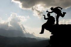 Альпинисты успешных и потехи Стоковые Фото