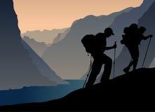 альпинисты Стоковые Фотографии RF