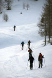 альпинисты Стоковое фото RF