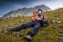альпинисты Стоковые Изображения RF