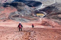 Альпинист в Котопакси стоковая фотография rf