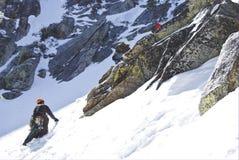 Альпинист горы Стоковое фото RF