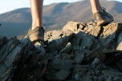 Альпинист горы Стоковые Изображения