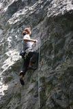 Альпинист утеса Стоковые Изображения