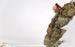 Альпинист утеса Стоковые Фото