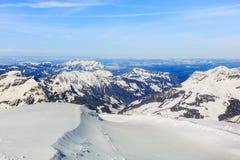 Альпы, взгляд от вершины Mt Titlis в Швейцарии Стоковое фото RF