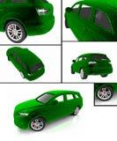 Альтернативная принципиальная схема экологичности автомобиля Стоковые Изображения RF