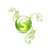 альтернативное лекарство зеленого цвета принципиальной схемы Стоковое Фото