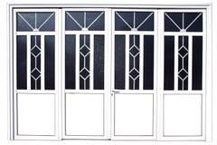 алюминиевая дверь Стоковая Фотография