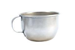 алюминиевой белизна изолированная чашкой Стоковые Фотографии RF