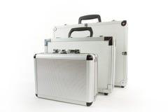 алюминиевые чемоданы Стоковая Фотография RF