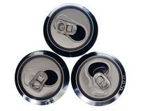 алюминиевые чонсервные банкы стоковые фото