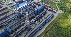 Алюминиевый вид с воздуха металлургического предприятия Стоковая Фотография RF