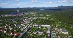 Алюминиевый вид с воздуха металлургического предприятия Стоковые Фотографии RF