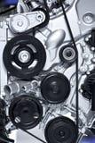 Алюминиевый двигатель автомобиля Стоковое Изображение RF