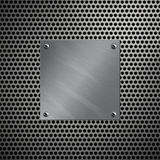 алюминиевый пефорированный металл рамки Стоковое Изображение