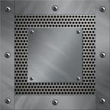 алюминиевый пефорированный металл рамки Стоковые Фото