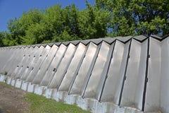 Алюминиевый промышленный ангар стоковое фото