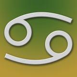 алюминиевый символ рака Стоковые Изображения