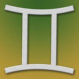 алюминиевый символ gemini Стоковые Фото