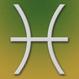 алюминиевый символ pisces Стоковое Фото