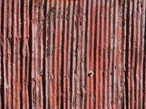 алюминиевый старый ржавый siding Стоковые Фото