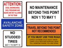 аляскские дорожные знаки Стоковая Фотография