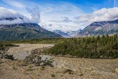 Аляскский ландшафт лета Стоковое Изображение