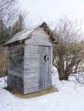 аляскский outhouse деревенский Стоковое Фото