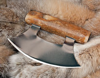 аляскское ulu ножа стоковое изображение