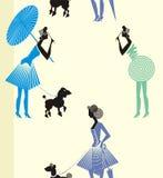 дама прогулки потехи с платьем Стоковое фото RF