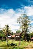 Амбары риса в традиционной деревне Tana Toraja, tongkonan домах и зданиях Kete Kesu, Rantepao, Сулавеси, Индонезия Стоковая Фотография RF