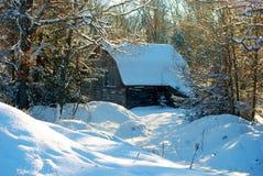 Амбар зимы Стоковое фото RF