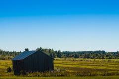 Амбар на полях осени Стоковое фото RF