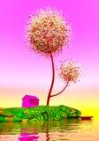 Амбар под волшебными деревьями Стоковые Фотографии RF
