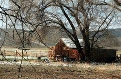 Амбар, южная Юта, шоссе 89 в весеннем времени Стоковые Фотографии RF