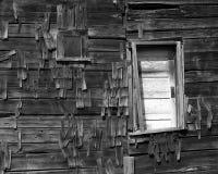 амбар dilapidated окно двери Стоковое Фото