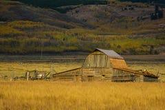 Амбар Moulton в грандиозном национальном парке Teton Стоковая Фотография