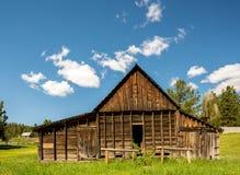 Амбар Ristic старый в горах Айдахо Стоковая Фотография