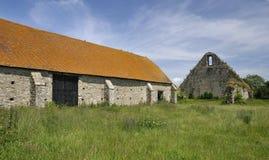 Амбар tithe усадьбы St Leonards средневековый Стоковая Фотография