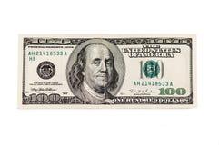 Американец 100 банкнот доллара Стоковые Изображения