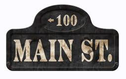 Американец Дисней знака США главной улицы винтажный стоковое изображение rf
