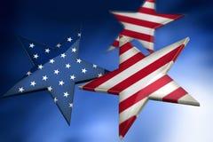 американец как звезды флага Стоковое Изображение