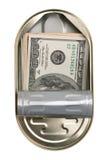 американец может олово долларов Стоковые Изображения