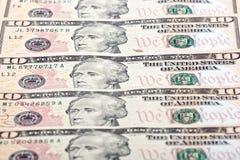 Американец 10 долларов Стоковые Фотографии RF