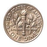 Американец одна монетка монета в 10 центов Стоковые Фото