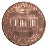 Американец одна монетка цента Стоковые Фото